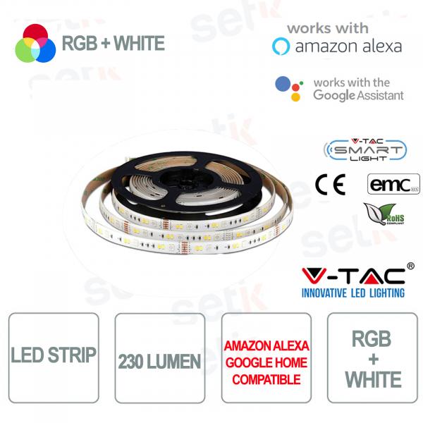 Striscia LED Smart Home RGB+BIANCO 230l 4 WATT Alexa Google Home V-TAC