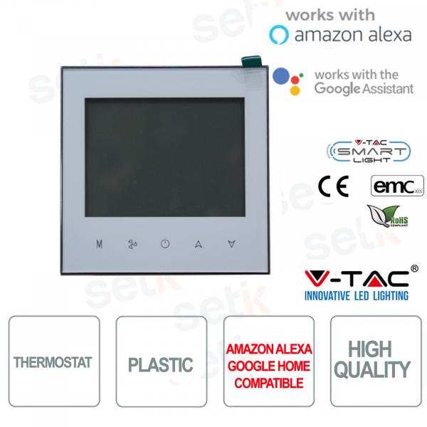 Termostato Smart WIFI collegamento a 2 tubi - Compatibile con Google Home e Amazon Alexa