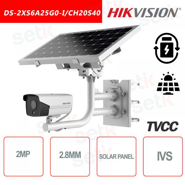 Hikvision 2MP Bullet Telecamere Pannello Solare e Batteria ricaricabile 2.8mm
