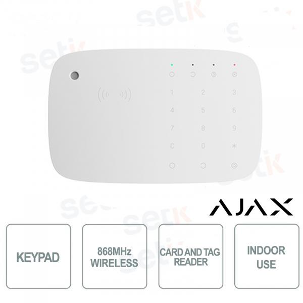 Ajax KeyPadcombi Tastiera senza fili 868MHz con sirena integrata e lettore schede e tag