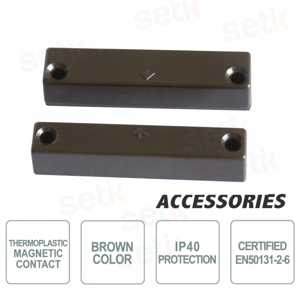 Magnetic contact with terminals - Brown