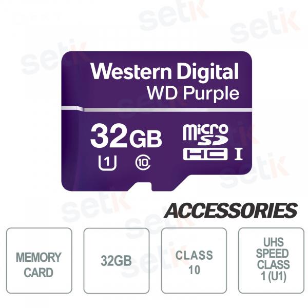 MicroSDHC Western Digital 32 GB Classe 10 UHS SC QD101 Ultra Endurance