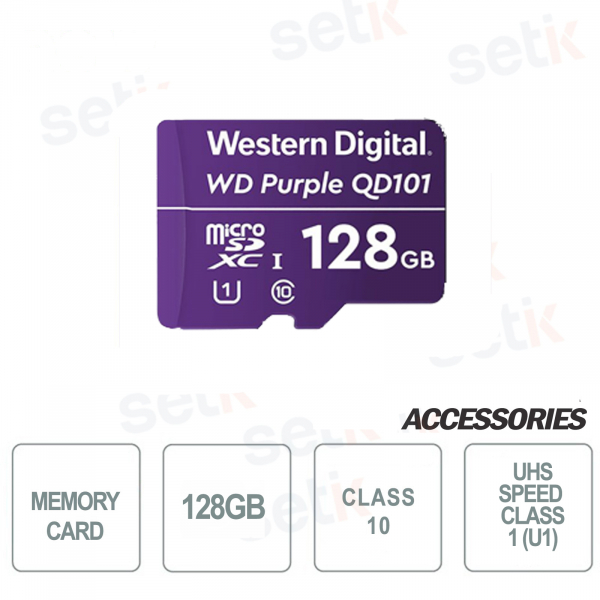 MicroSDHC Western Digital 128 GB Classe 10 UHS SC QD101 Ultra Endurance