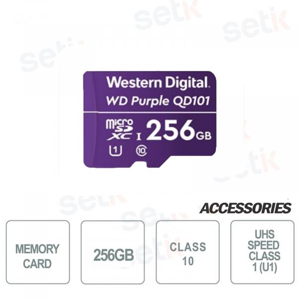 MicroSDHC Western Digital 256 GB Classe 10 UHS SC QD101 Ultra Endurance