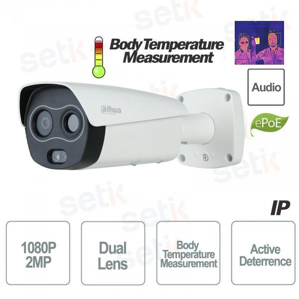 IP Telecamera Termica Dahua Professionale Misurazione Temperatura Corpo e Deterrenza Attiva