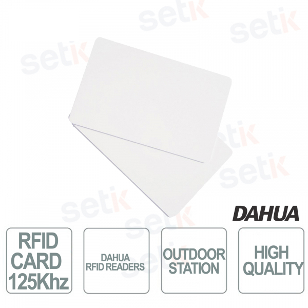 Tessere RFID 125Khz per postazioni esterne predisposte - Dahua