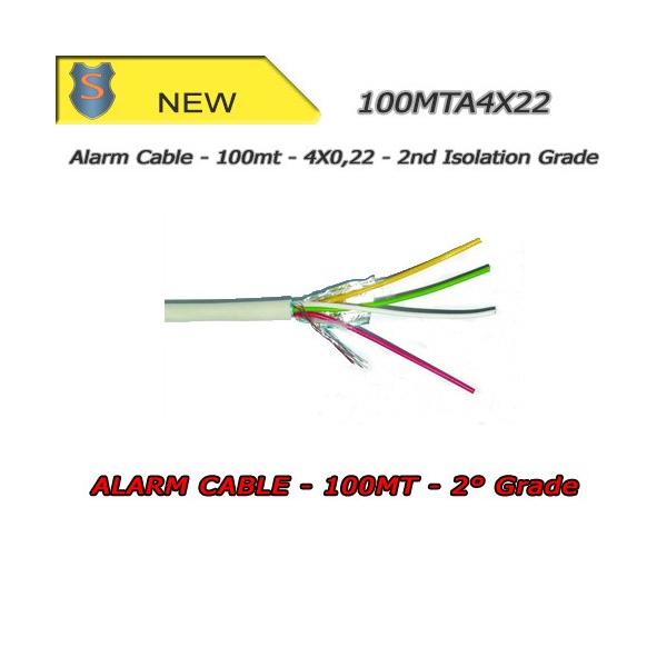 Skein Alarm Cable 100Mt. 4X0.22 - SETIK
