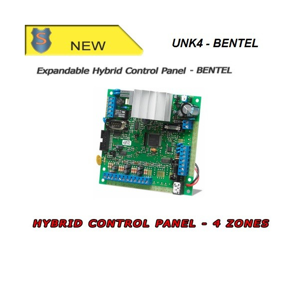 Expandable Hybrid Control Panel by BENTEL for Small-scale Installation - 4 On-board zones - KYO4