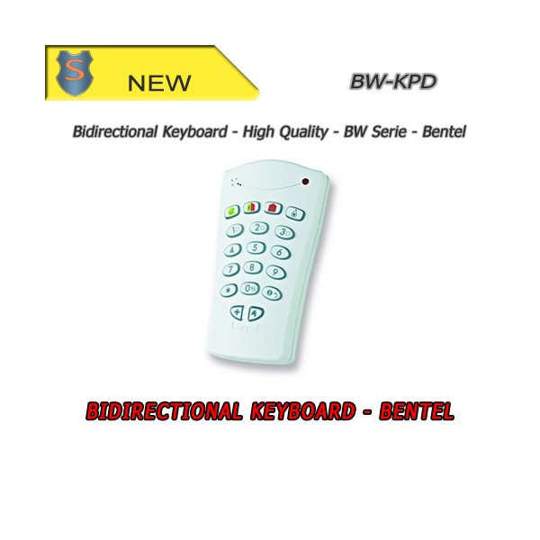 Remote bidirectional keyboard for BW series control panels by Bentel