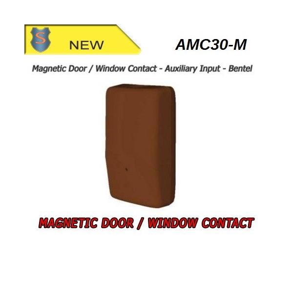Contatto magnetico via radio - ingresso zona veloce 433MHz - Marrone - AMC-30M