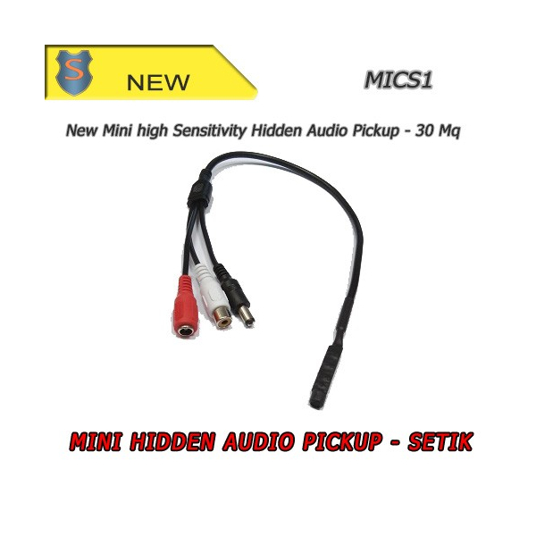 Microfono Ambientale 3 Connettori - Alta Sensibilità 30Mq - Setik
