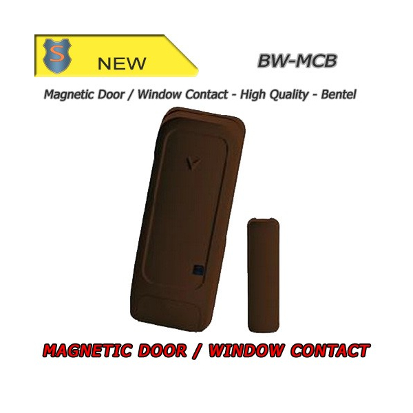 MAGNETIC CONTACT FOR DOORS AND WINDOWS - BROWN - BENTEL - BW-MCB