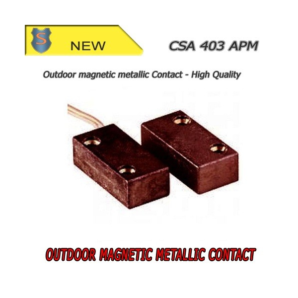 Contatto Magnetico Metallico Piccolo - Marrone