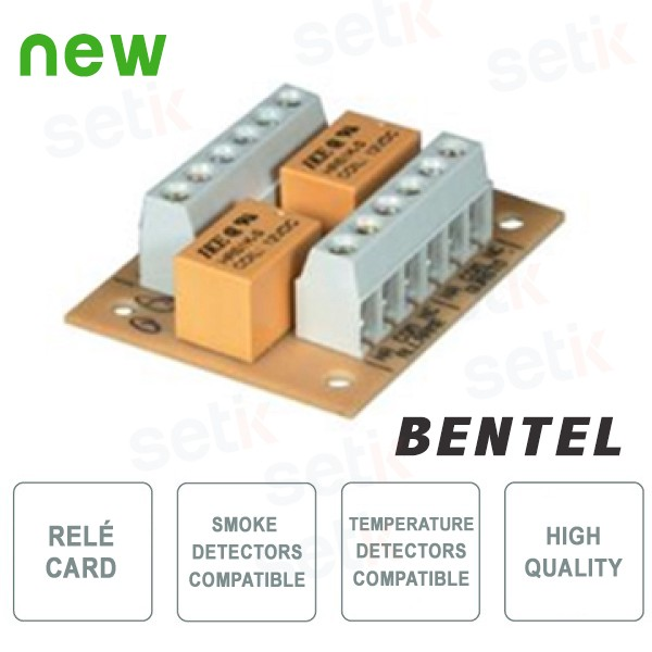 Control Panel relé for Smoke/Temperature Sensors. - Bentel Security