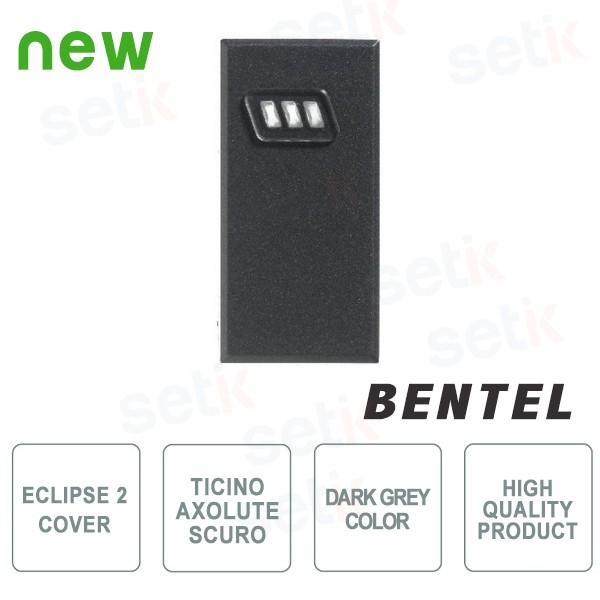 Cover for Eclipse 2 proximity reader - Ticino Axolute Dark Series - Bentel