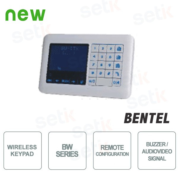 Wireless LCD Keyboard - BW Series - Bentel Security