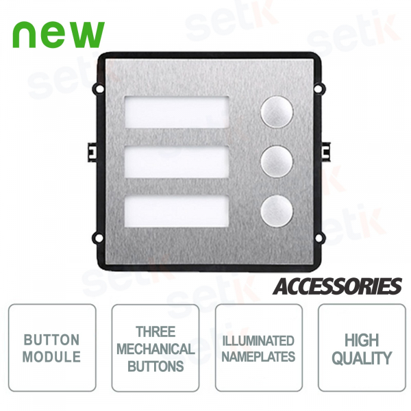Additional Module 3 Mechanical Buttons for Modular Oudoor Station VTO2000A-C - Dahua