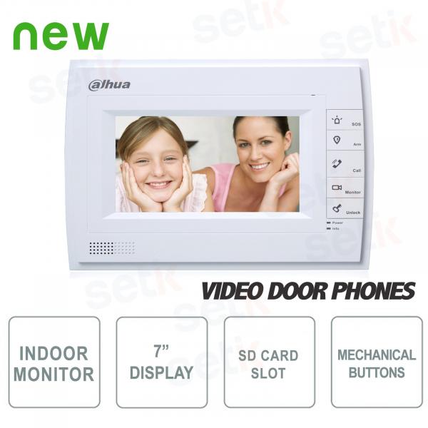 Postazione Interna Intercomunicante - Display 7 Touch + Tasti - Slot SD Card - Dahua