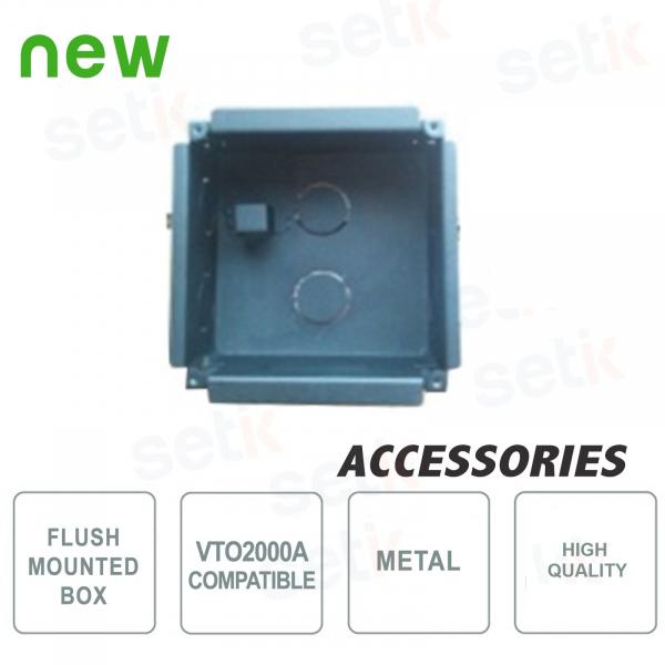 Flush-mounting back box for VTO2000A by Dahua - VTOB107