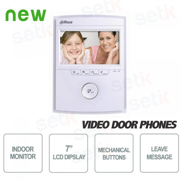 """Postazione Interna Intercomunicante - Display 7"""" Touch + Slot SD Card + Pulsantiera - Dahua"""