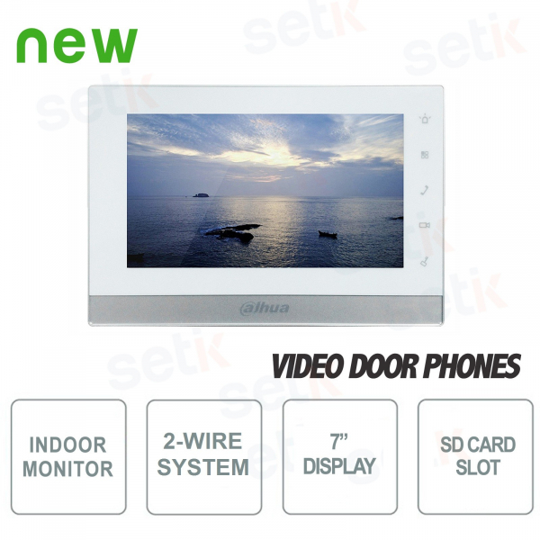 "Internal Intercom Bifilar Station - 7"" Touch Display - SD Card Slot - Dahua"