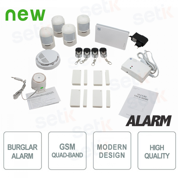 Complete Wireless Domestic Antitheft Alarm GSM - SETIK