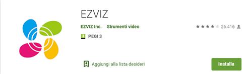 Applicazione Cloud EZVIZ
