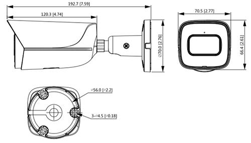 Schema dimensioni telecamera IPC-HFW3841E-SA Dahua